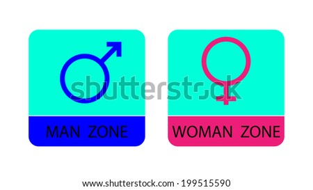 Men and women sign icons - vector illustration. - stock vector