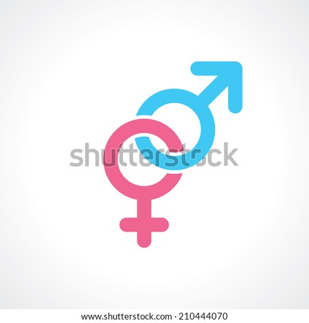 men and women symbol. vector - stock vector