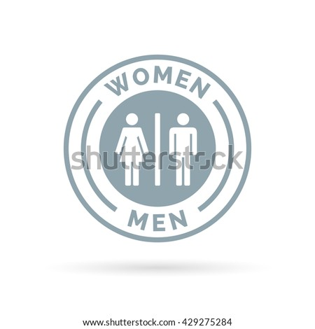 Men And Women Toilet Icon. Male And Female Restroom Sign. Man And Woman  Bathroom
