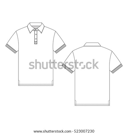 Polo shirt template stock images royalty free images for Polo shirt design template