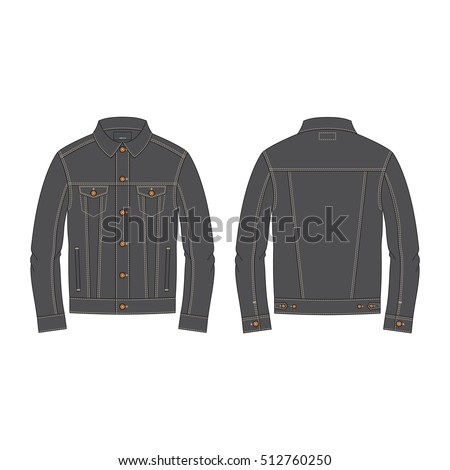 Men Biker Jacket Black Leather Seamless Stock Vector 254925622 ...