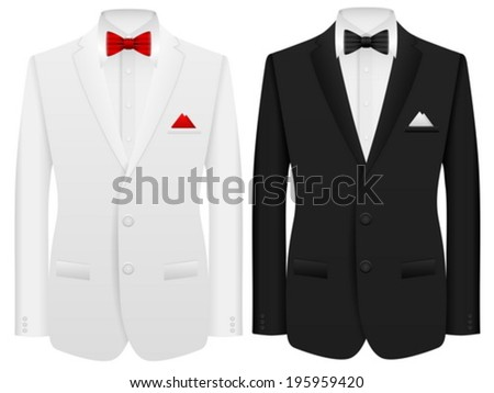 Men formal suit on a white background. - stock vector