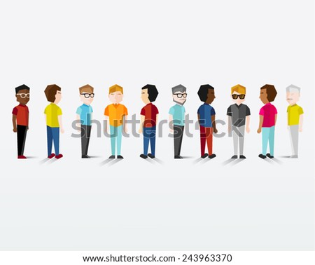 Men Gathering Vector Design - stock vector