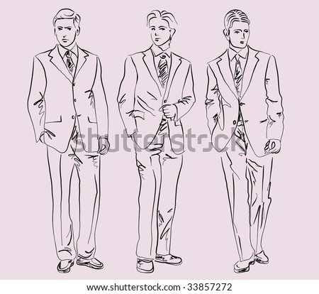 Man Fashion Sketch Stock Images, Royalty-Free Images ...