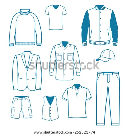 Men s Clothing - stock vector
