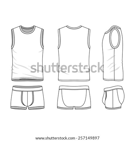 Pants template stock images royalty free images vectors for Vest top template