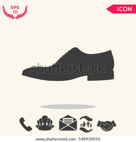 Men's shoe icon. Menu item in the web design