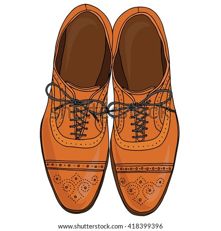 Mens Shoes Fashion Illustration Vector Hand Stock Vector ...