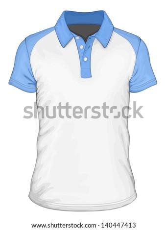 Mens short sleeve poloshirt design templates stock vector for Collar shirt design template