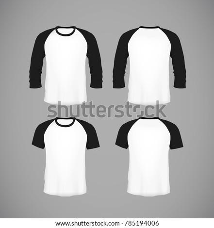 mens slimfitting short sleeve baseball shirt stock vector 785194006