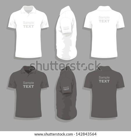 Men's t-shirt design template - stock vector
