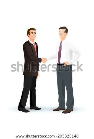 Men shake hands - stock vector