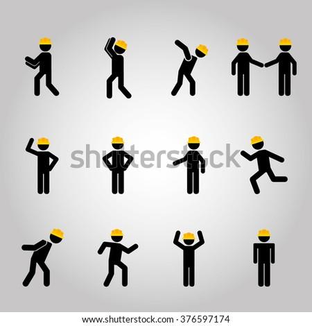 men sign design  - stock vector