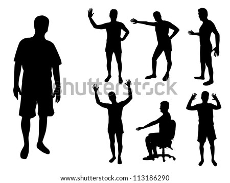 Men silhouette - stock vector