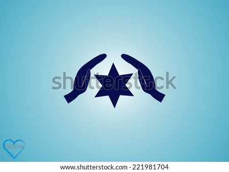 Menorah vector icon