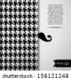 Mens abctract background. Seamless fashion pattern. - stock vector