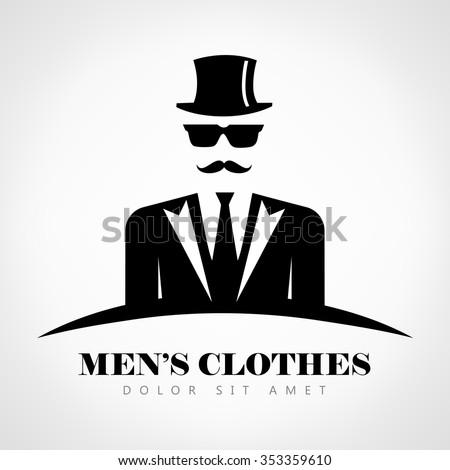 Mens clothes logo - stock vector