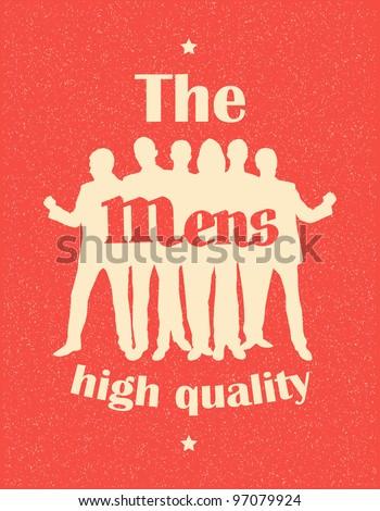 Mens. Retro poster - stock vector