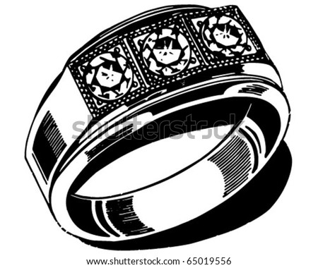 mens wedding ring retro clipart illustration stock vector 65019556 rh shutterstock com Men's Wood Ring Clip Art Firefighter Rings Men