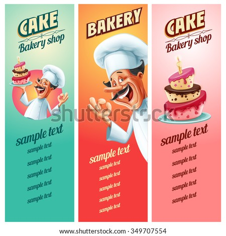 menu bakery - stock vector