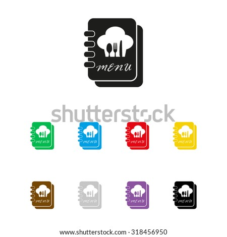 Menu book - vector icon - stock vector