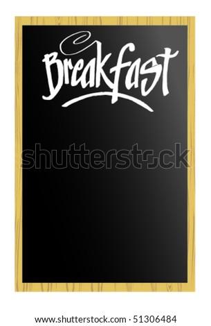 Menu - Breakfast - stock vector