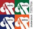 Menu Card Covers - stock vector