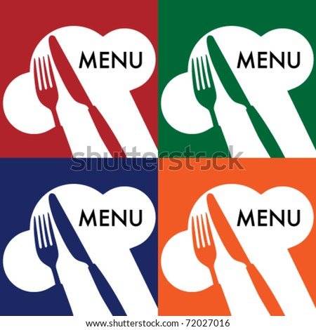 Menu Card Covers - stock vector
