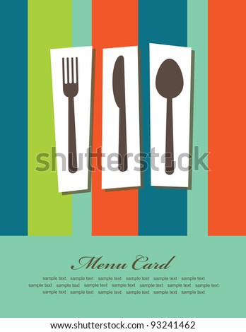 menu card cute design. vector illustration - stock vector