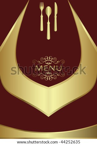 Menu Card Design template - stock vector