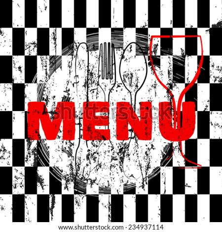 menu card design template for restaurant, free copy space - stock vector
