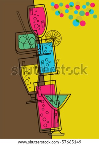 Menu card for Bar New year party 2013 - stock vector