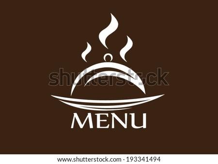 menu cloche - stock vector