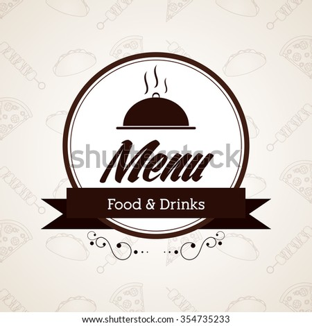Menu concept with icons design, vector illustration 10 eps graphic.
