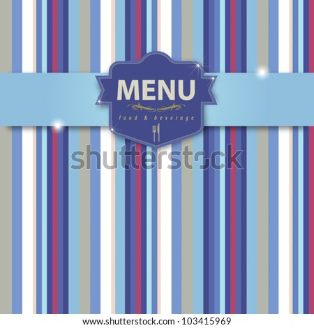 Menu cover abstract background for your design, vector format