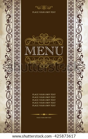 Menu cover vector design