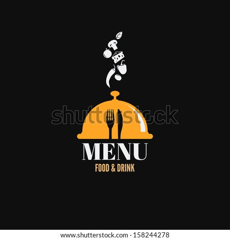 menu design food drink dishes concept - stock vector
