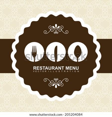 menu design over pink background vector illustration - stock vector