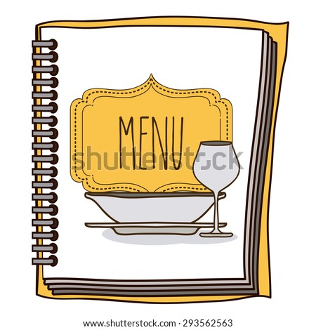 Menu digital design, vector illustration eps 10