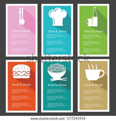 Menu Food & Drinks,Colorful,vector - stock vector