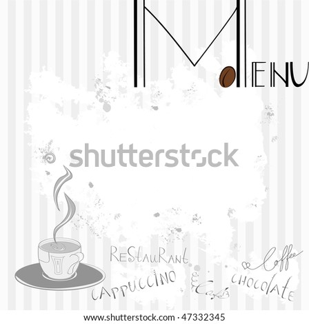 Menu for cafe - stock vector