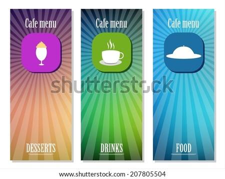 Menu for coffee house, restaurant, cafe, bar - stock vector