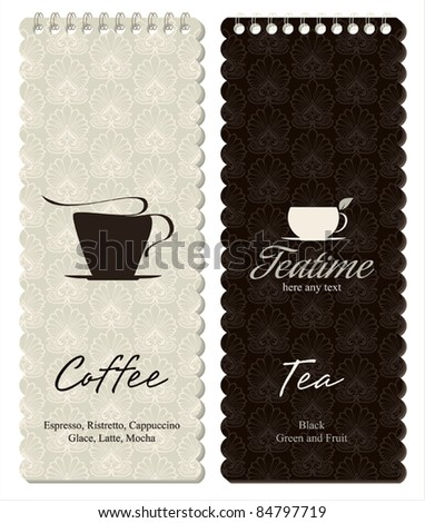 Menu for restaurant, cafe, bar, coffeehouse - stock vector
