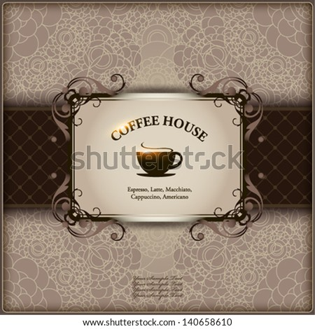 Menu for restaurant, cafe, bar, coffeehouse.  Vector eps 10 illustration. - stock vector
