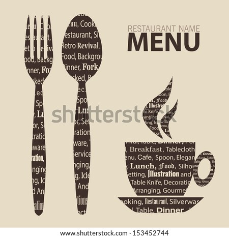 Menu for restaurant cafe stylized. - stock vector