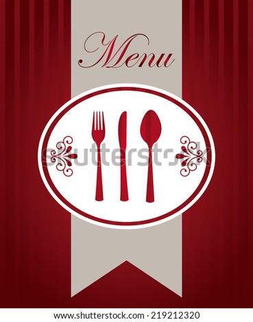 menu graphic design , vector illustration - stock vector