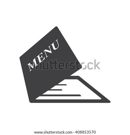 Menu icon on the white background. Menu icon. Restaraunt icon. - stock vector