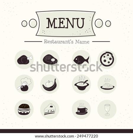 Menu icons set. Vector illustration EPS10 - stock vector
