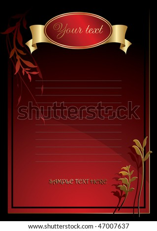 menu,invitation sets 35 - stock vector