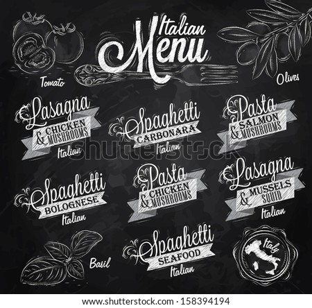 -vector-menu-italian-the-names-of-dishes-of-spaghetti-lasagna-pasta ...